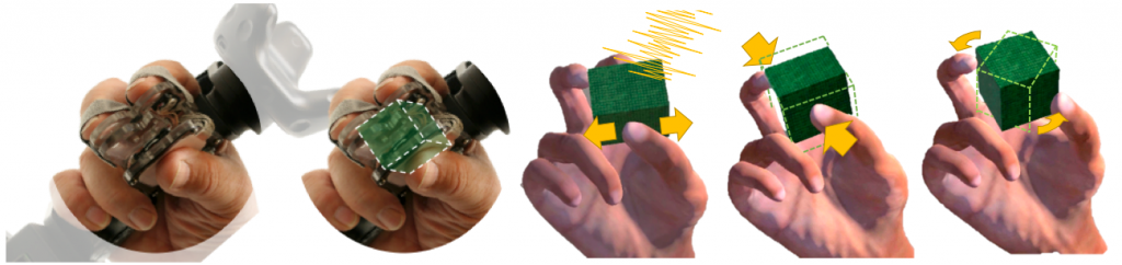 Figure 1: Using TORC to manipulate a virtual object with dexterity and compliance.