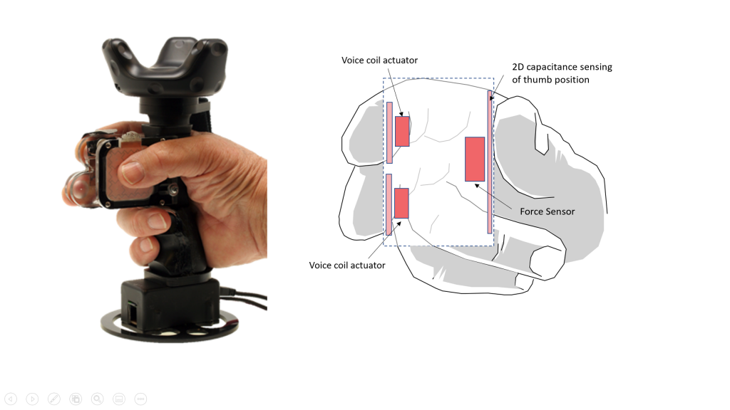 Figure 2: The TORC controller is designed as a hand-held device with no external moving parts.