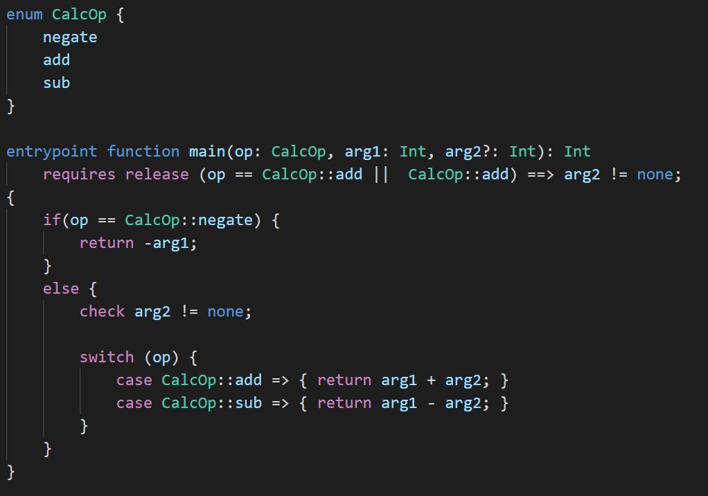 Bosque programming language code sample