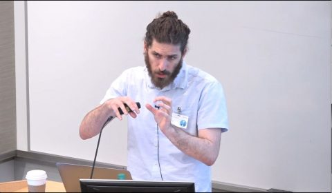 Niv Dayan giving presentation