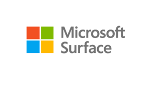 Microsoft Surface stacked logo with symbol