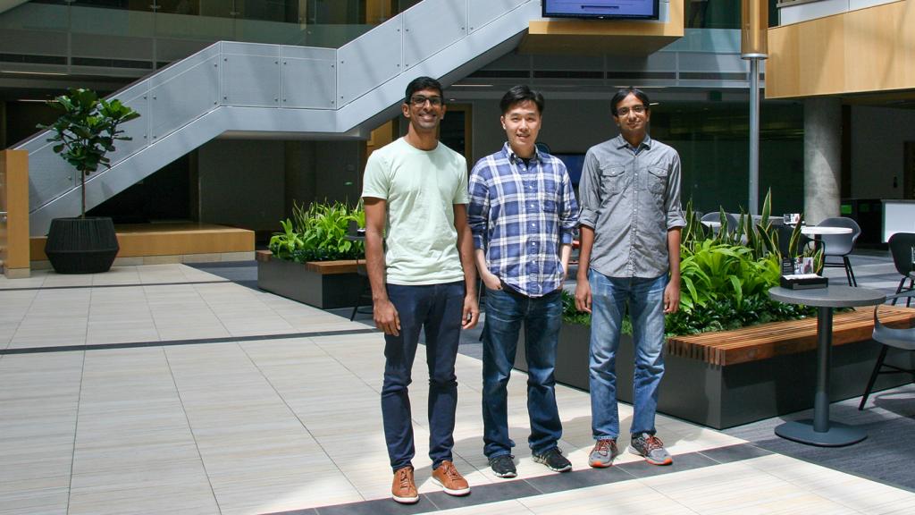 From left to right: Akshay Krishnamurthy, Nan Jiang, and Alekh Agarwal