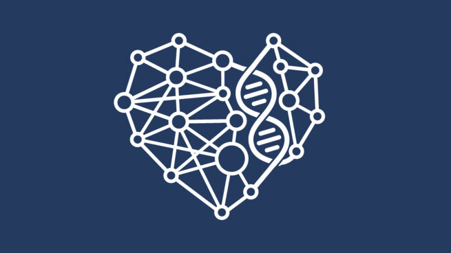 Health Intelligence heart DNA icon