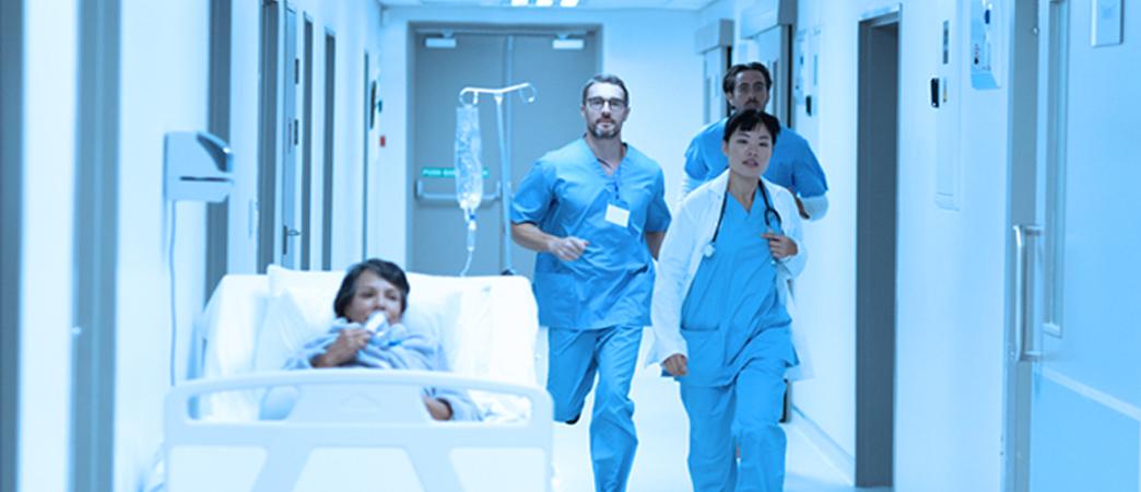 busy hospital corridor