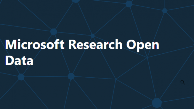 Microsoft Open Data Repository website