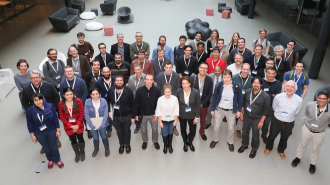 A group shot of researchers at the Swiss JRC