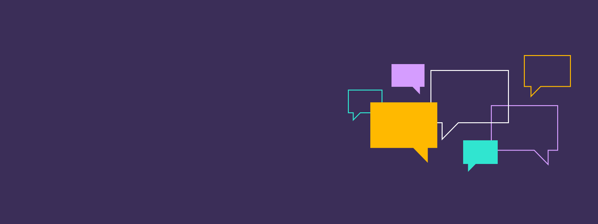 DialoGPT project header - chat boxes on a dark purple background