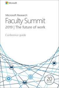 Microsoft Research Faculty Summit 2019 conference guide cover image