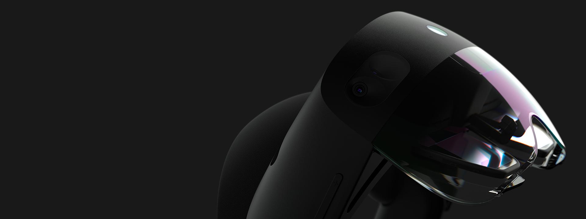 Hololens on black background