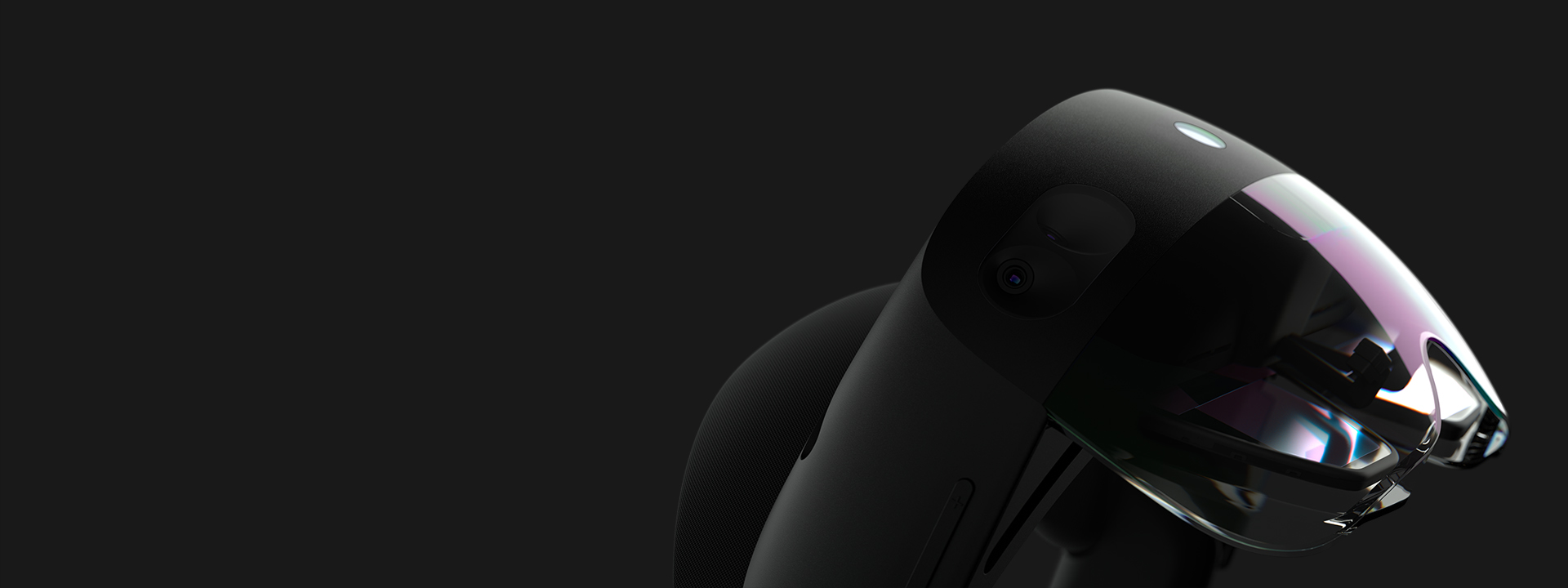 Microsoft Hololens headset with black background
