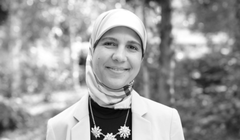 headshot of Riham Mansour for the Microsoft Research podcast
