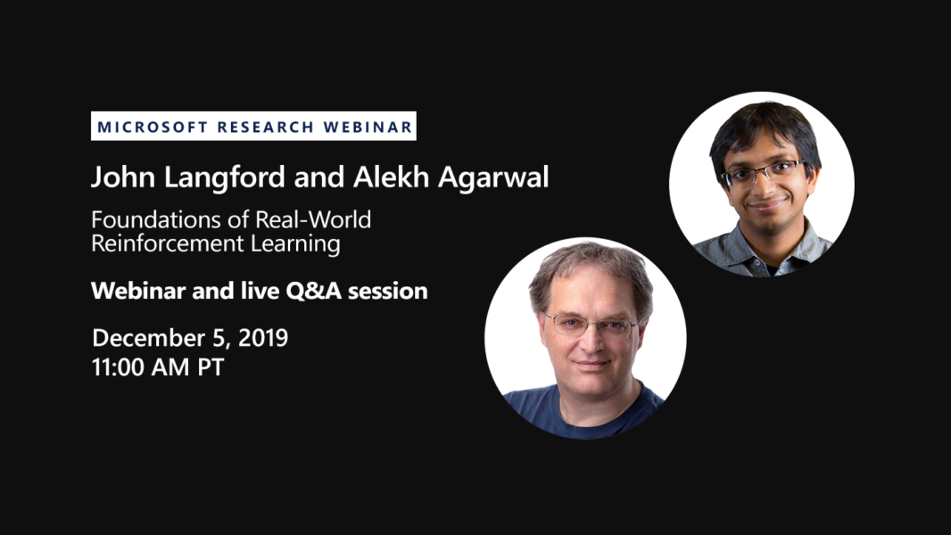 Promotion for the John Langford and Alekh Agarwal webinar