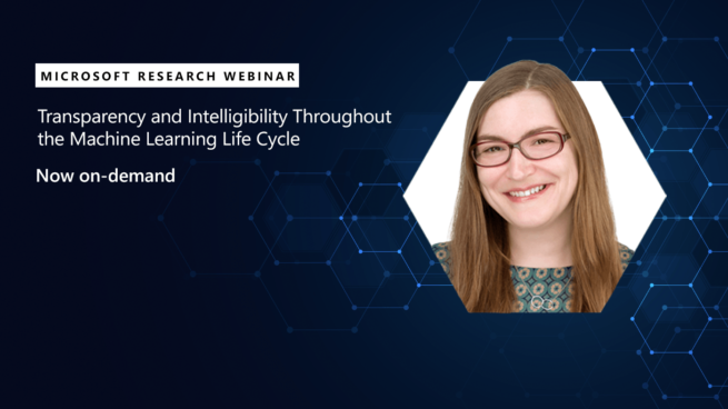 Microsoft Research Webinar: Transparency and Intelligibility Throughout the Machine Learning Lifecycle