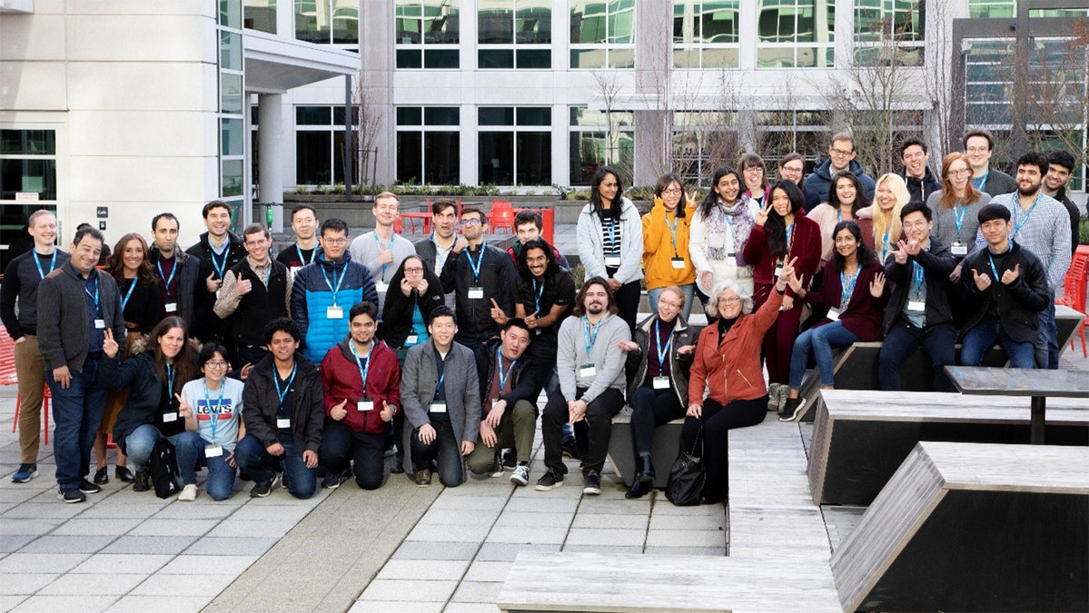 attendees and speakers at the MSR AI Bootcamp 2020