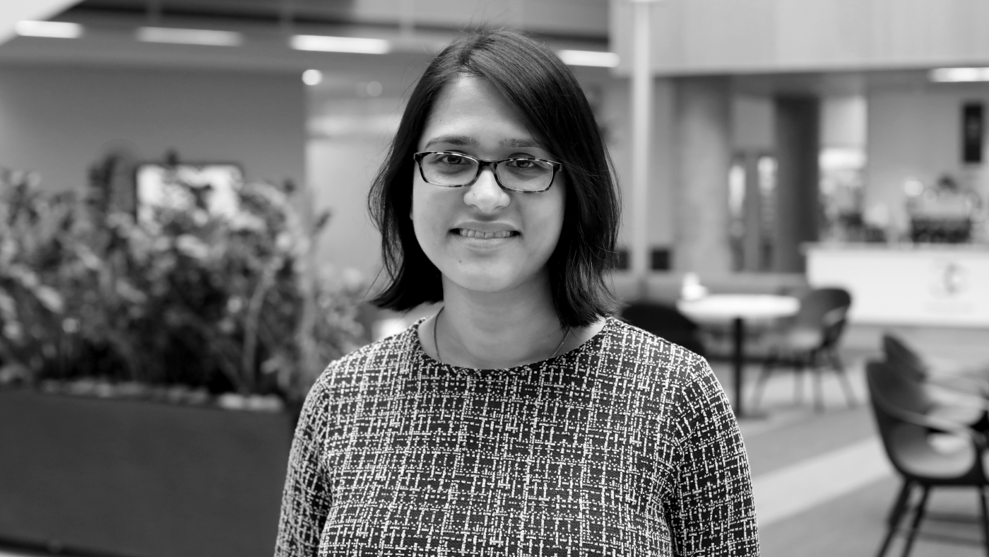 photo of Dr. Pamela Bhattacharya for the Microsoft Research Podcast