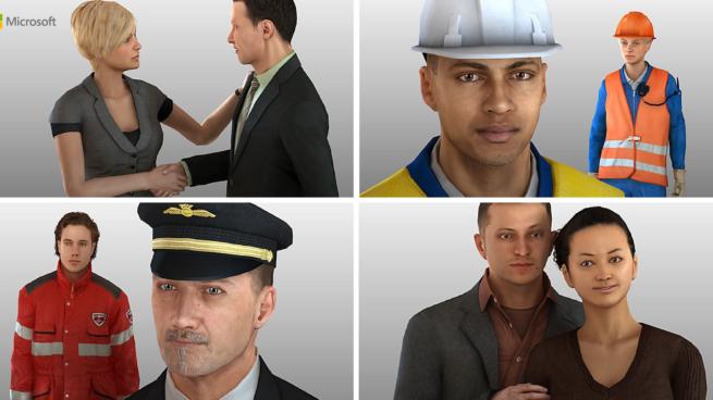 multiple people as avatars