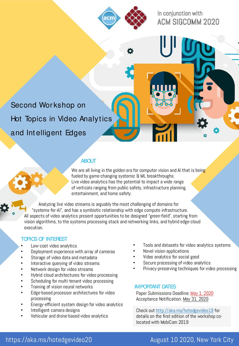 The 2nd Workshop on Hot Topics in Video Analytics and Intelligent Edges