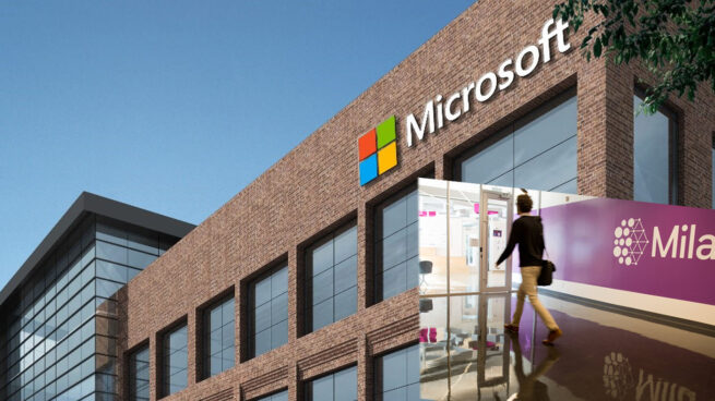 photo of Mila student and Microsoft Montreal lab exterior