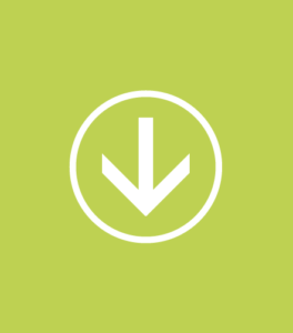 arrow pointing down with a circle around it on a lime green rectangular background