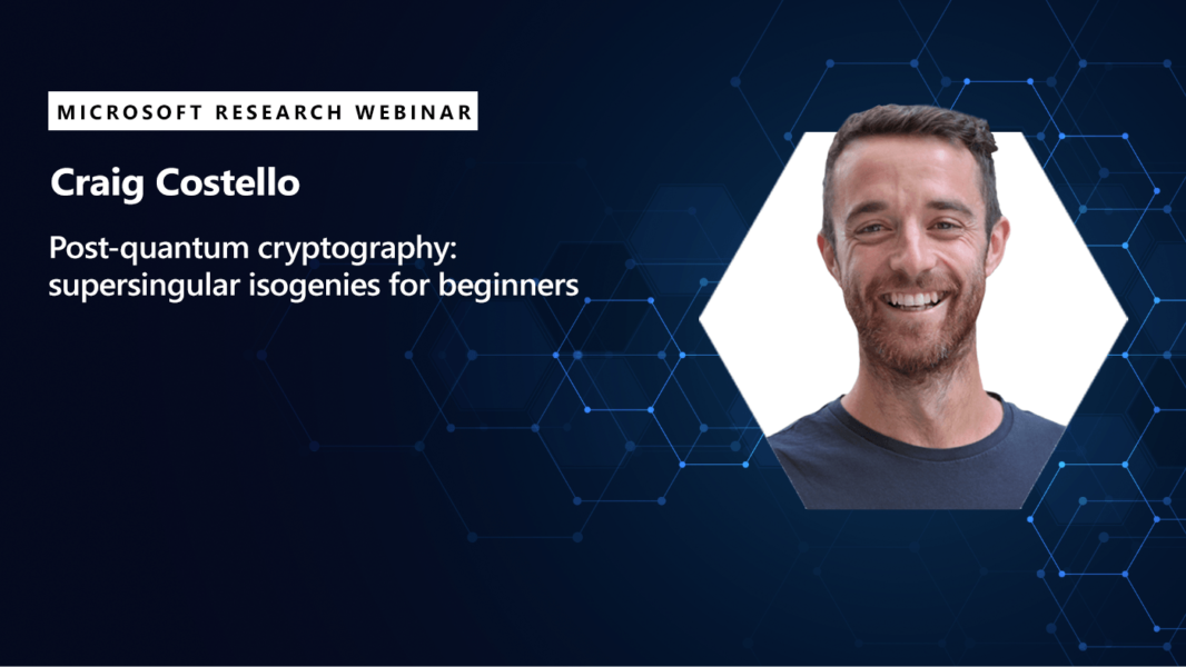 picture of craig costello promoting his webinar on quantum cryptography