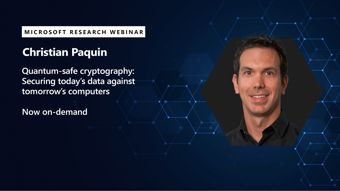 Picture of christian paquin promoting his ondemand webinar on quantum safe