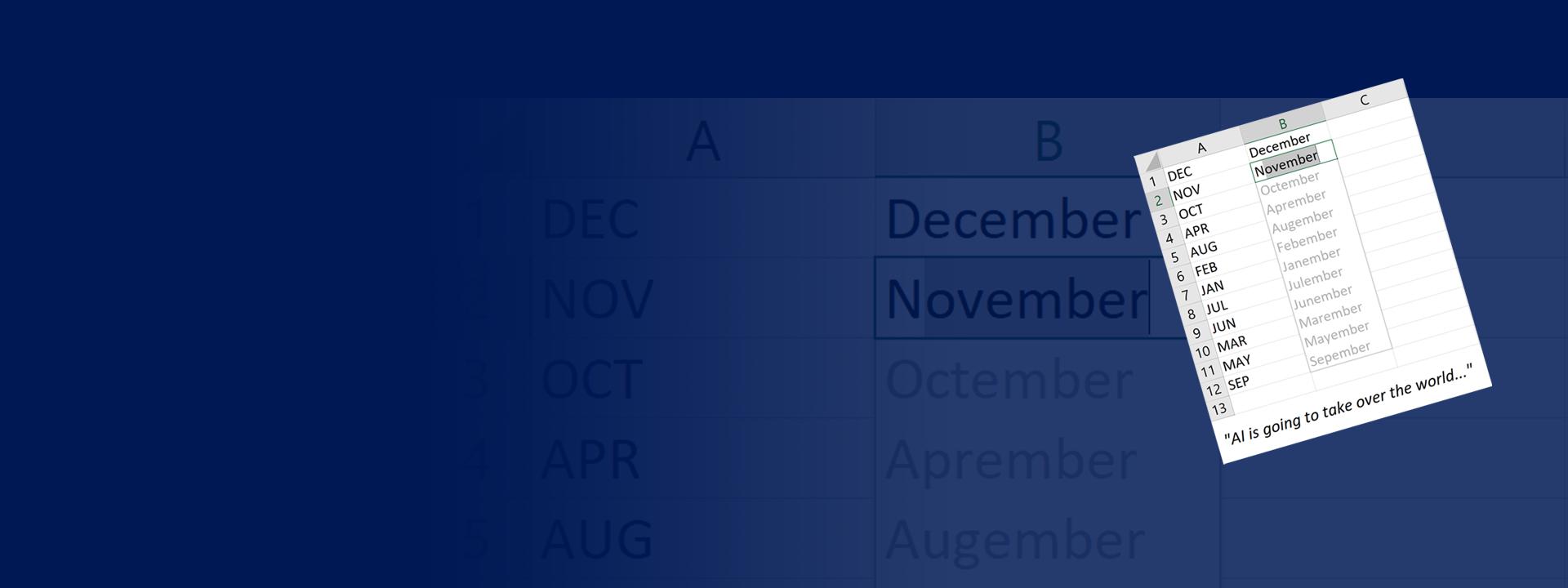 PROSE group header - blue background