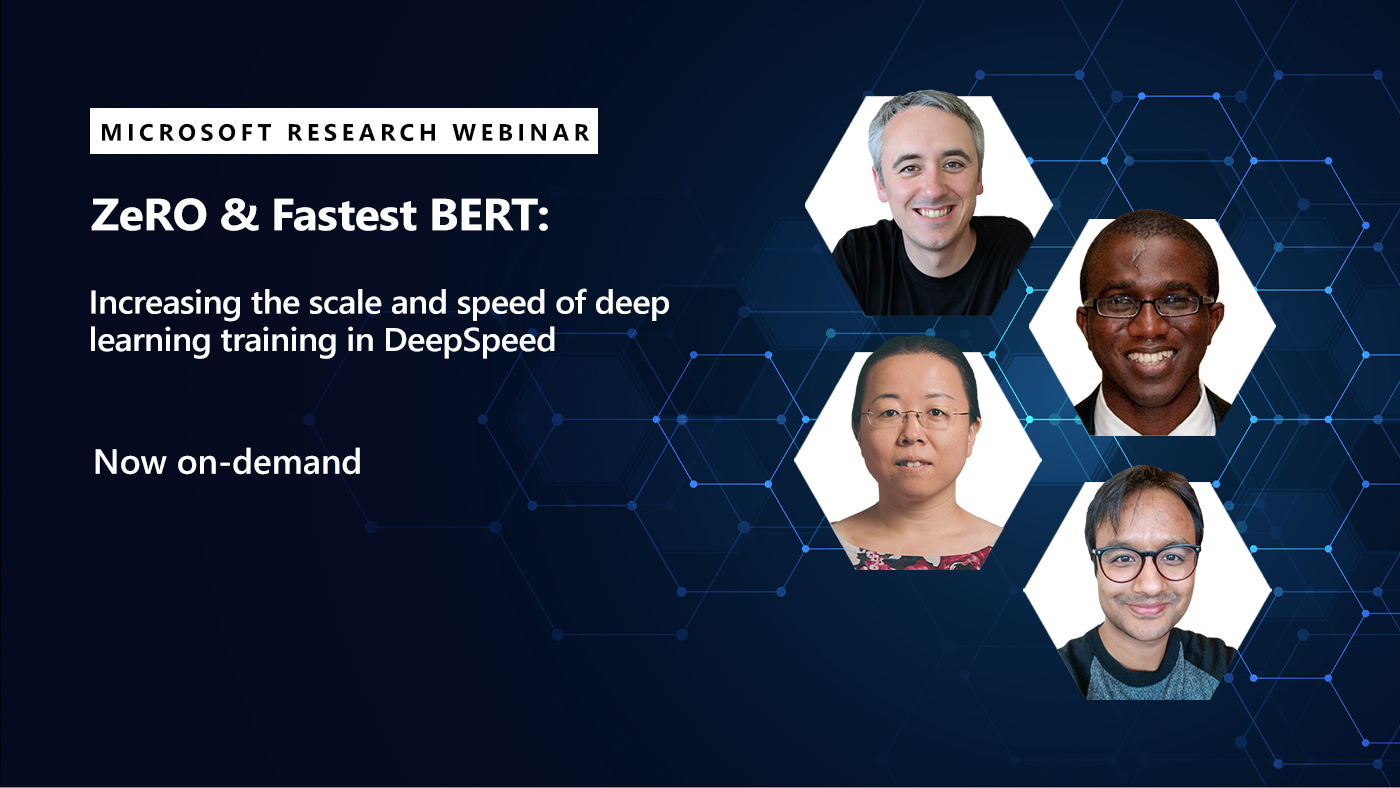 picture of each of the four presenters in the deepspeed webinar