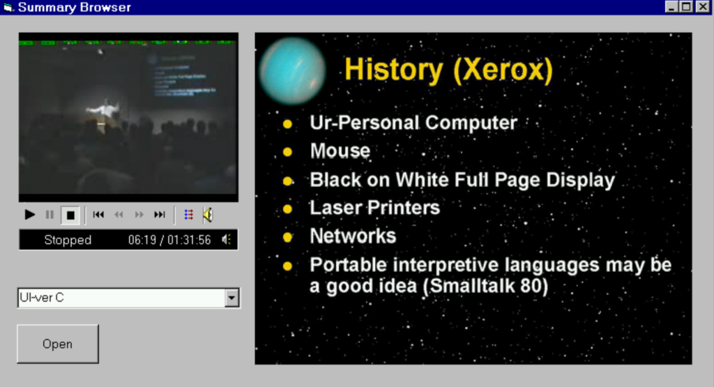 audio and acoustics: 1991 software testing window UI