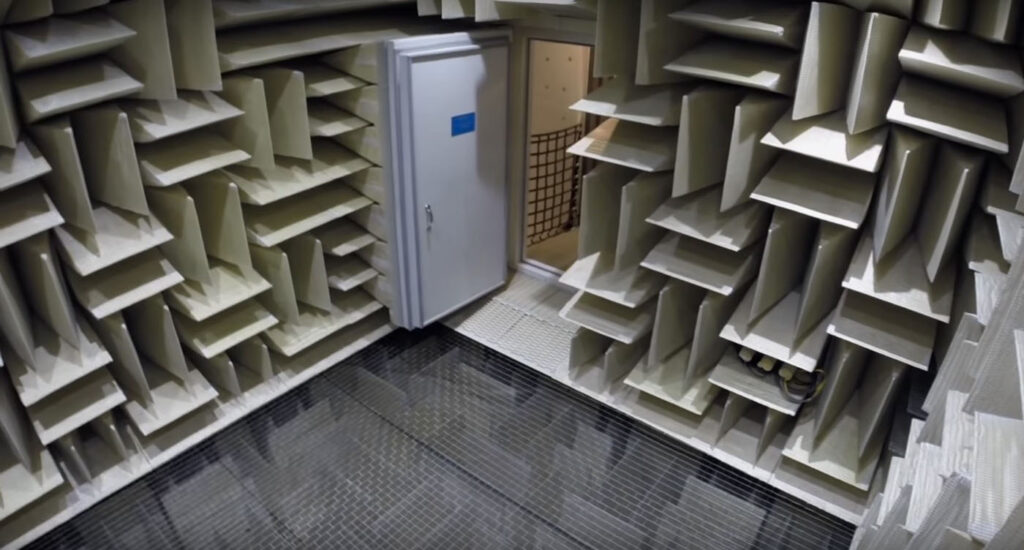 view of inside the anechoic chamber