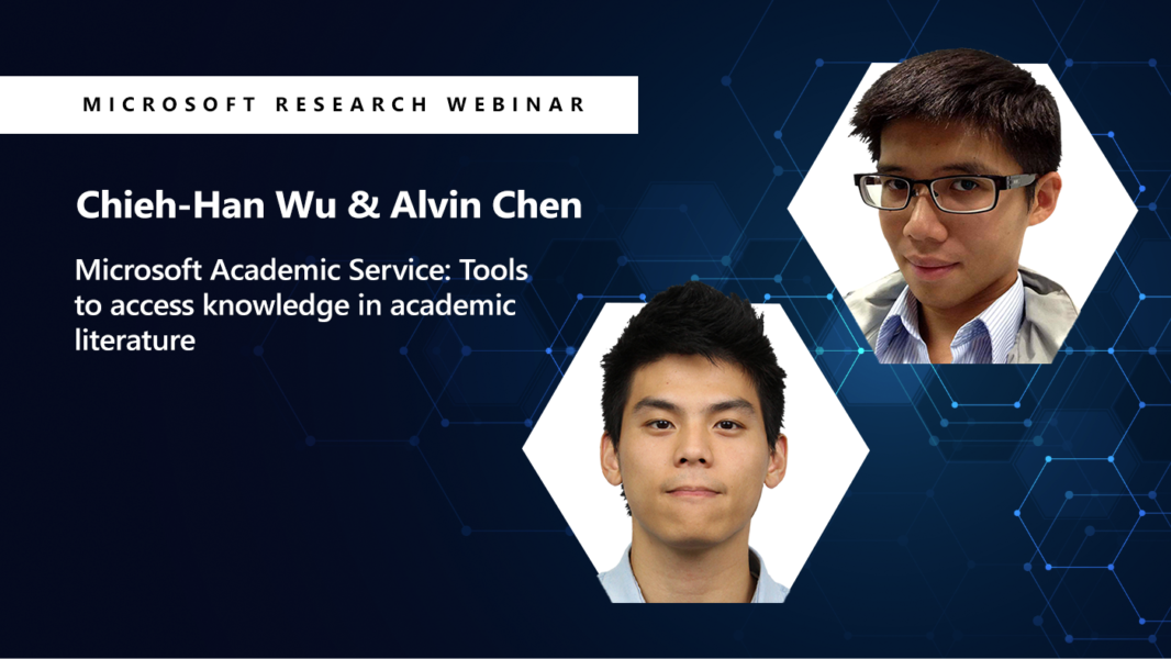 Picture of alvin and chieh-han on the right and the title of their webinar on the left.