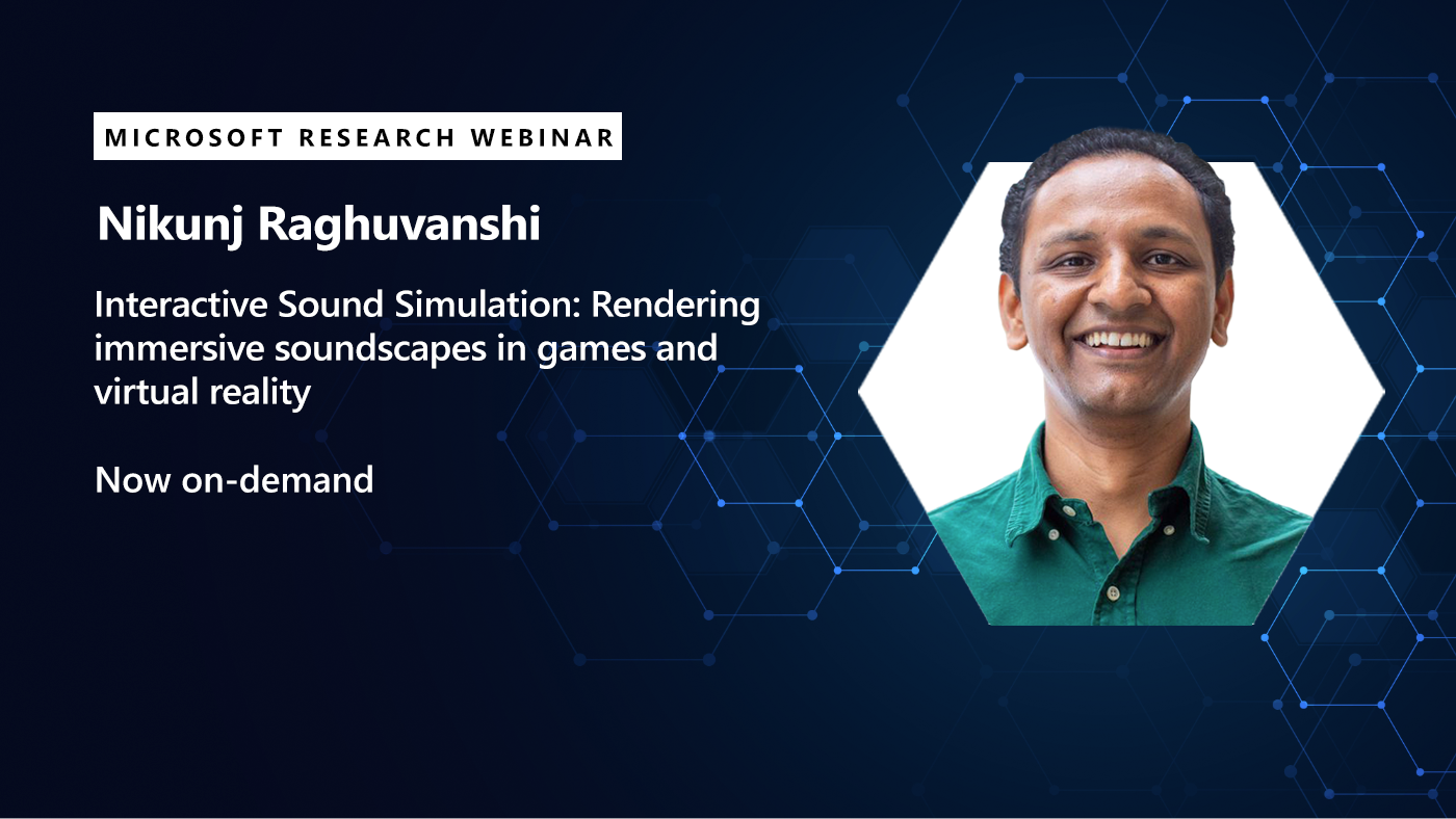 picture of nikunj promoting his webinar on sound