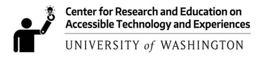 Center for Research and Education on Accessible Technology and Experiences (CREATE) logo