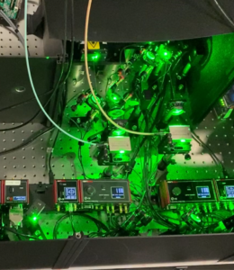 Holographic storage research testbed at Microsoft Research Cambridge