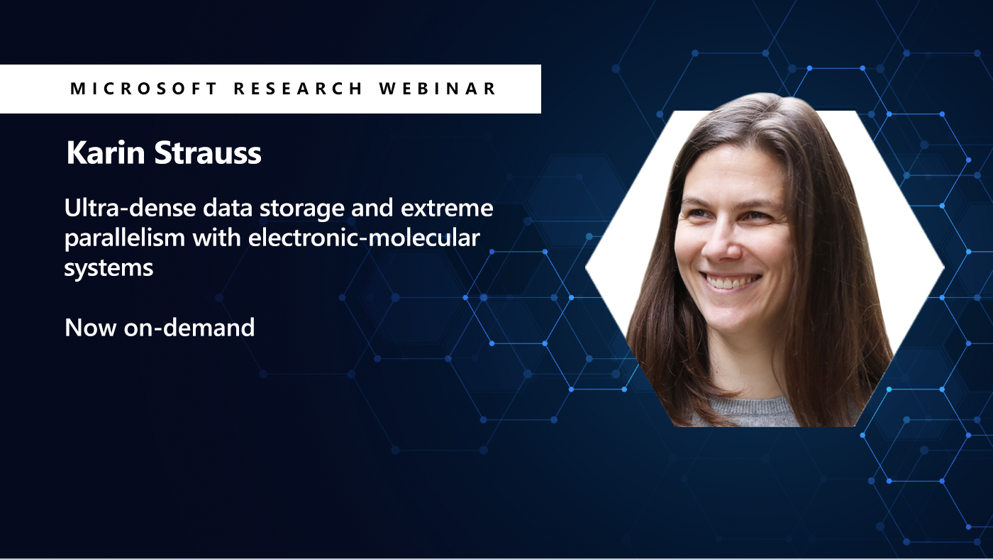 Picture of Karin Strauss next to her webinar title