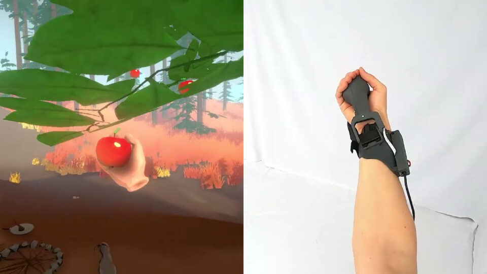 screen capture of Haptic PIVOT device