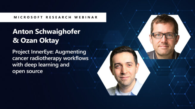 picture of ozan and anton next to the title of their webinar