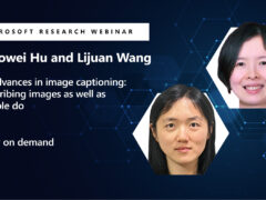 AI advances in image captioning: Describing images as well as people do webinar