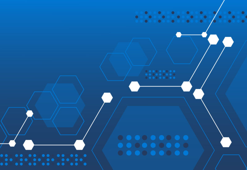 RL Open Source Fest header: hexagonal graphics with network node connectors on blue background