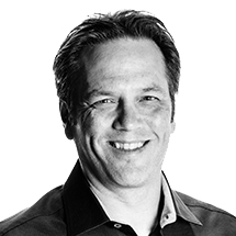 Portrait of Phil Spencer from Microsoft and speaker at the Microsoft Research AI and Gaming Research Summit