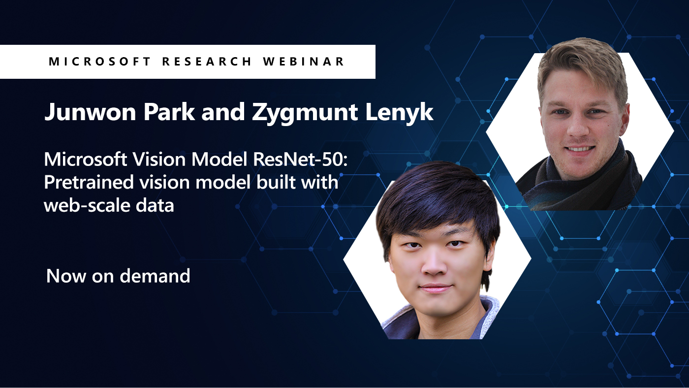 a picture of junwon and zygmunt next to the title of their webinar on computer vision