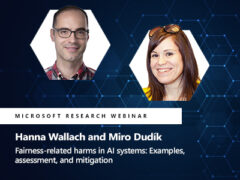 Fairness-related harms in AI systems: Examples, assessment, and mitigation webinar