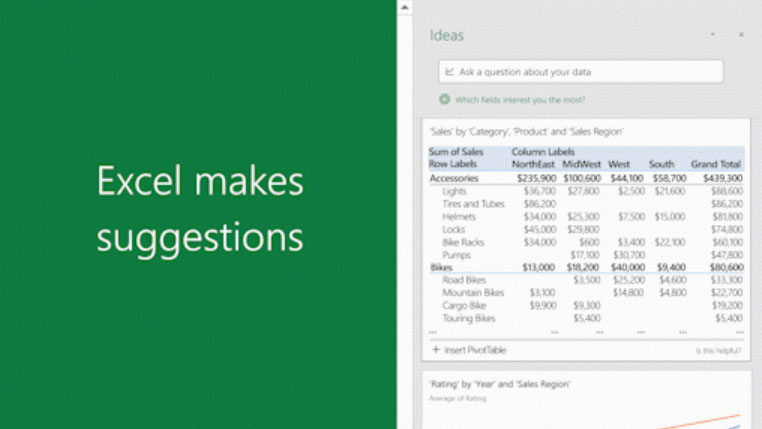 screenshot of Microsoft Excel making suggestions with LAMBDA