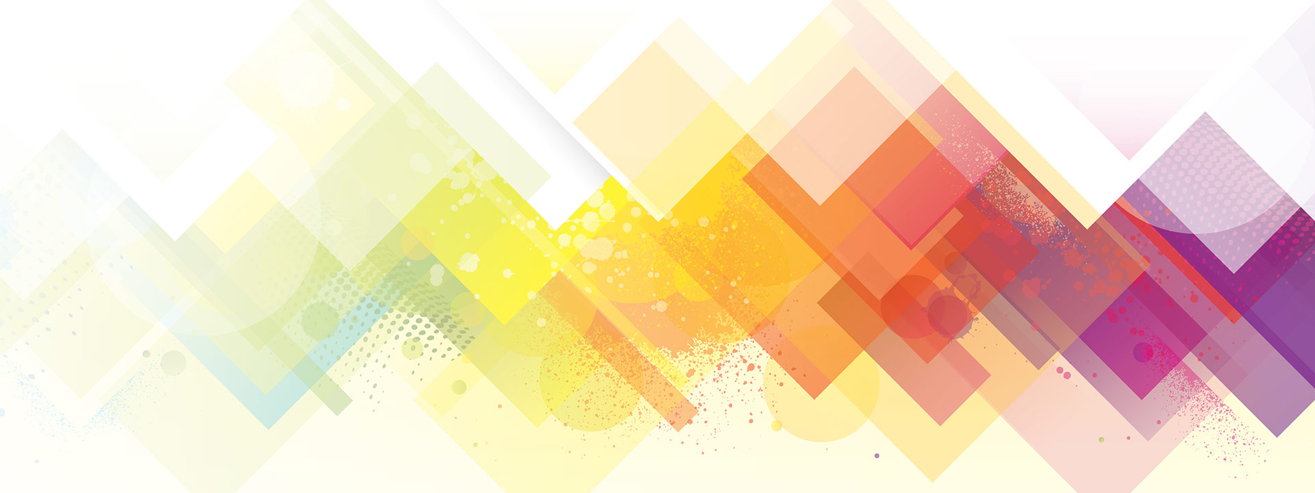 Abstract colorful blocks on white background