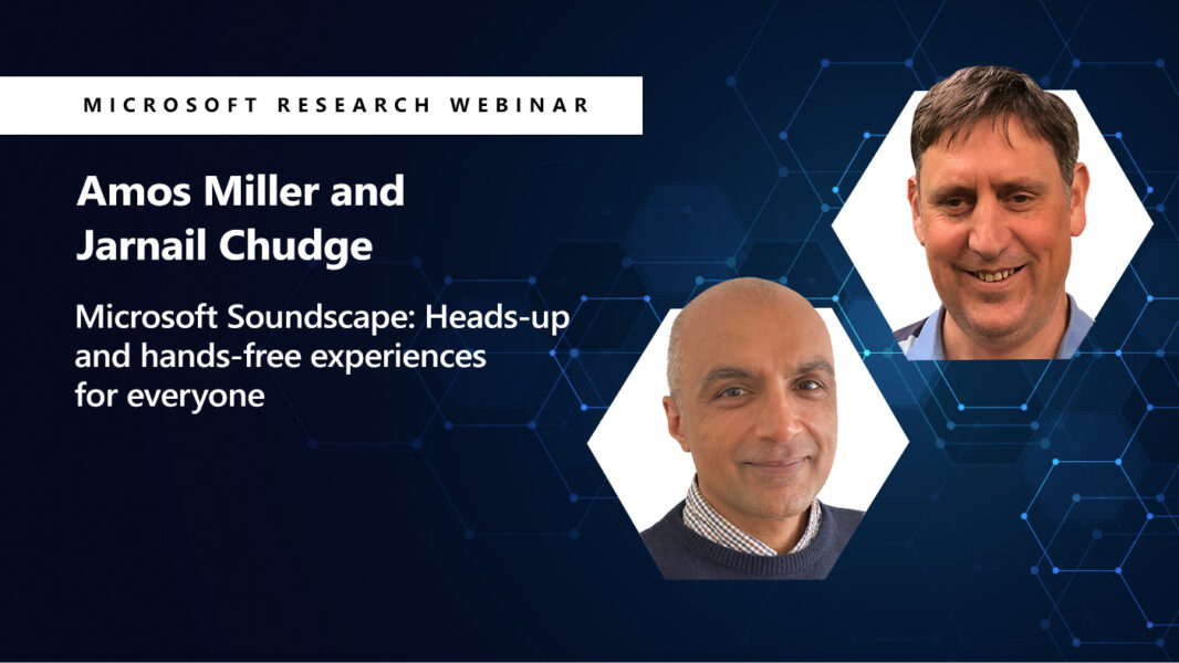 a head shot of amos and jarnail next to their webinar title on soundscape