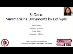 SuDocu: Summarizing Documents by Example