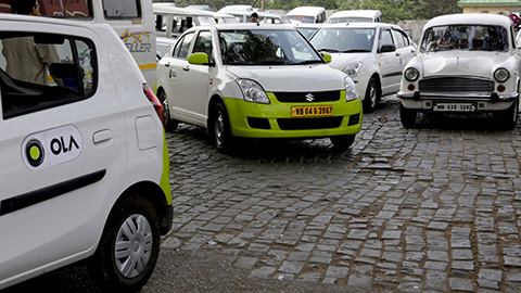 Drive-by Air Pollution Sensing - taxis enabled with sensing devices