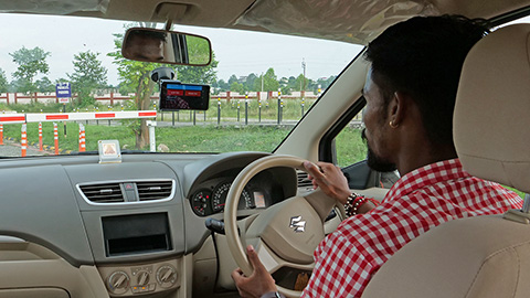 Harnessing AutoMobiles for Safety (HAMS) - man behind the wheel of a car