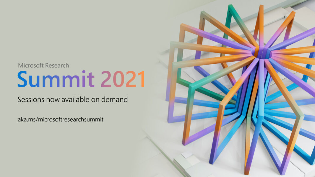 """Graphic reads """"Microsoft Research Summit, Now available on-demand"""""""