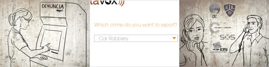 A crime-reporting tool for a community