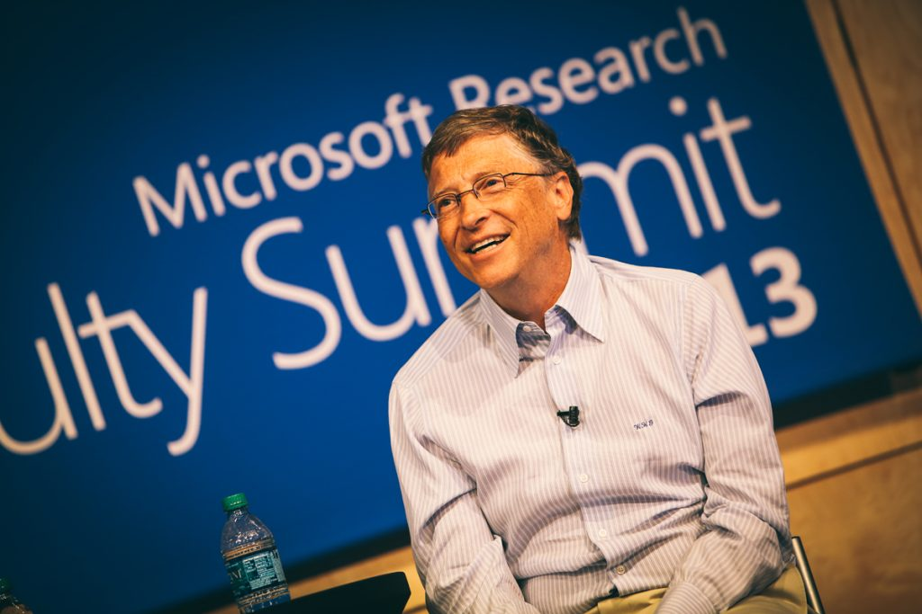 Bill Gates, Microsoft chairman, delivers the opening keynote July 15 during the Microsoft Research Faculty Summit 2013.